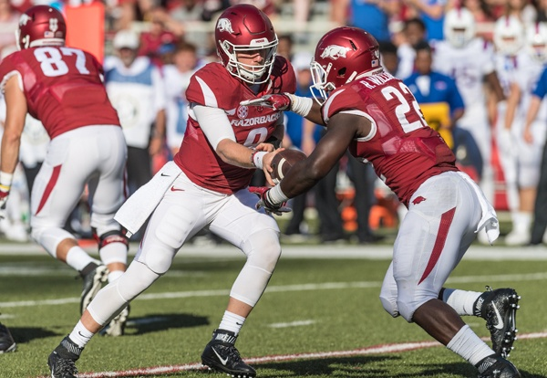 Hogs: QB Allen defends tackle Jackson, entire line