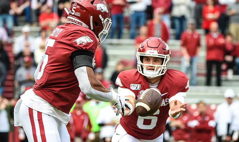 HOGS: Four QBs under review; notes