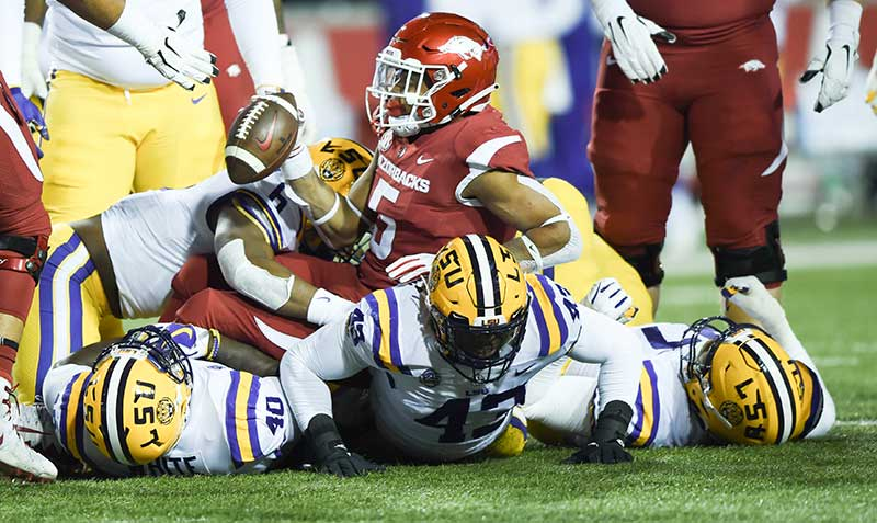 HOGS lock in on No. 1 LSU
