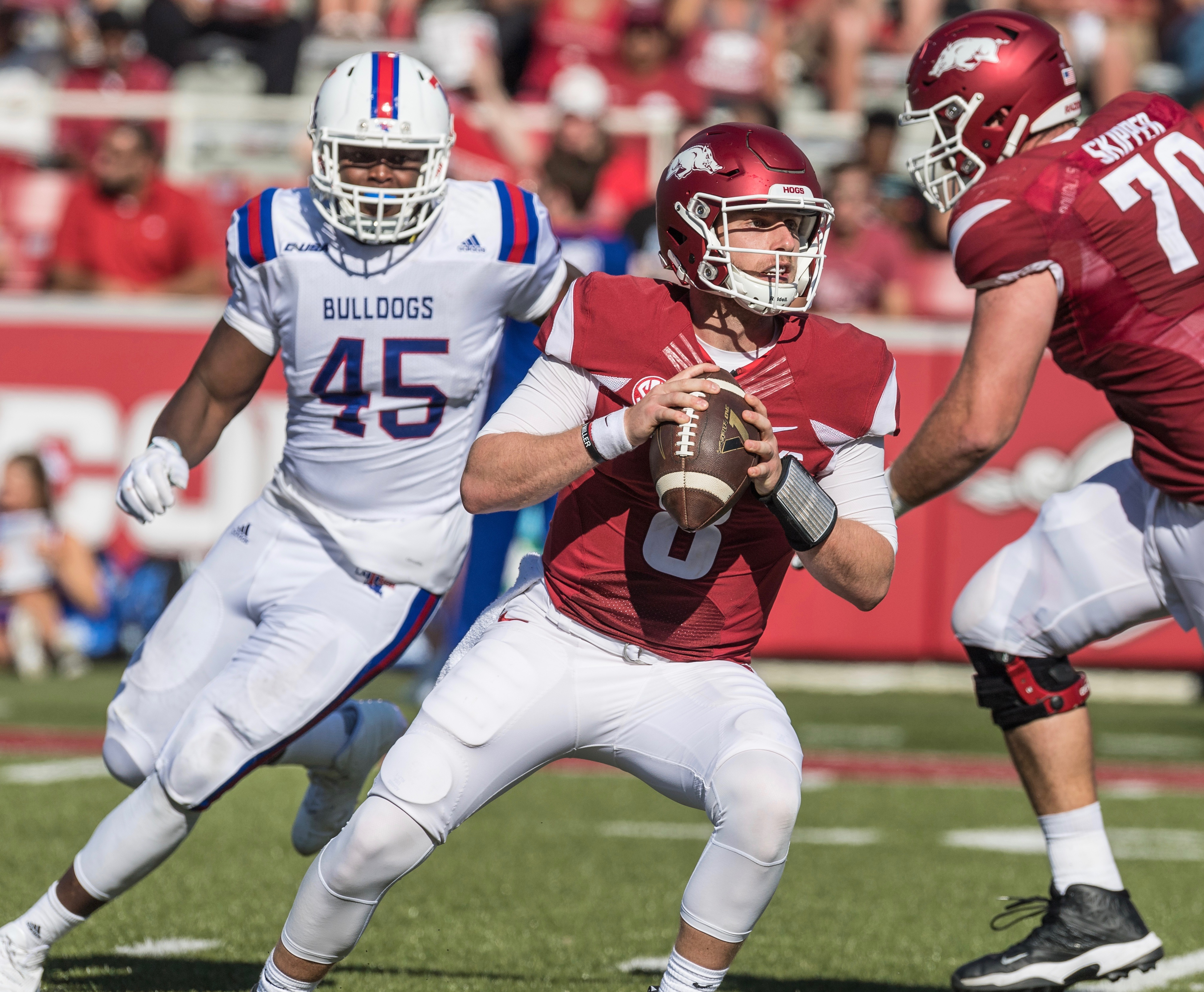 Hogs win ugly, top La. Tech 21-20