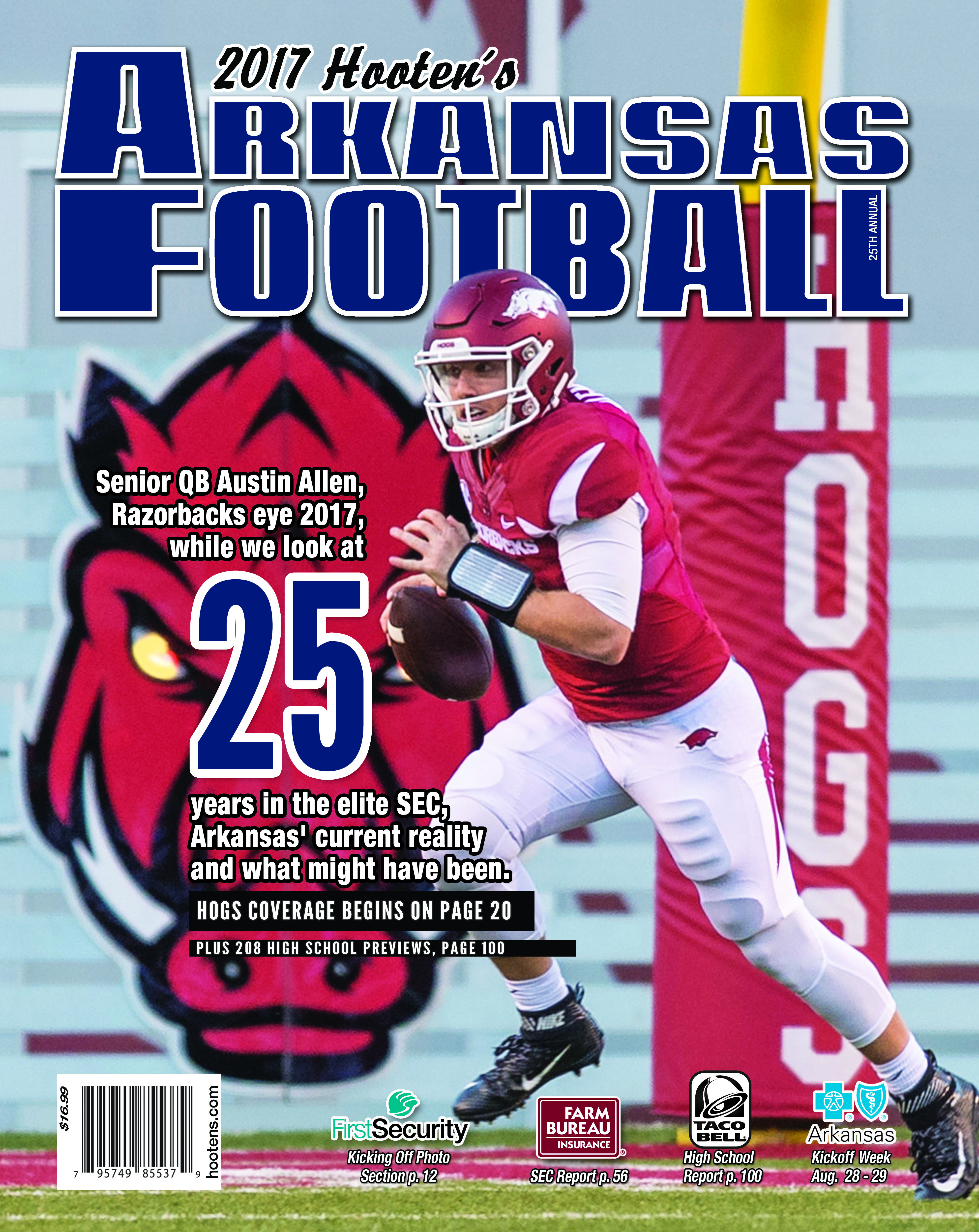 25th Hooten's Arkansas Football on sale