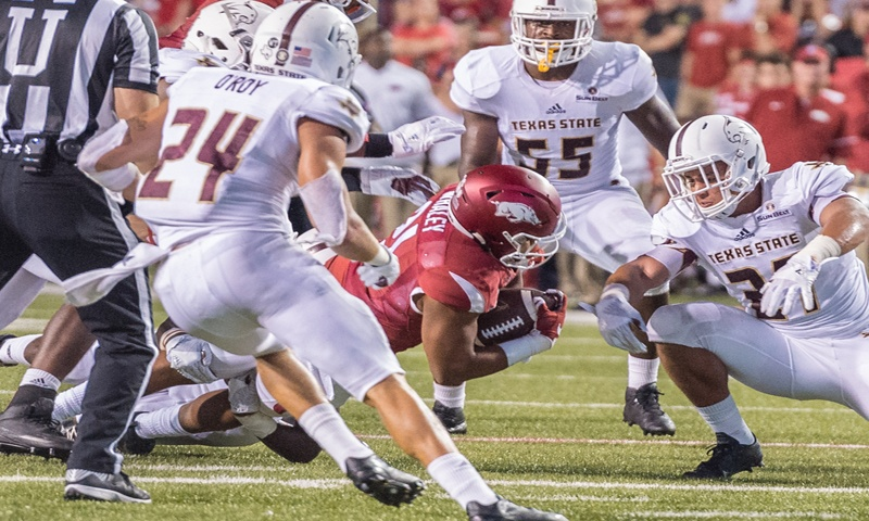 Hogs vs. A&M: frosh RB Whaley right on time