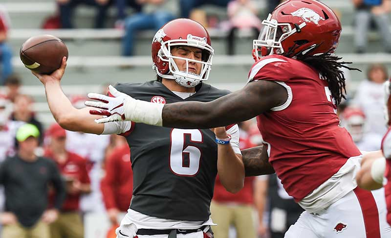 HOGS: QB Hicks to start; more notes