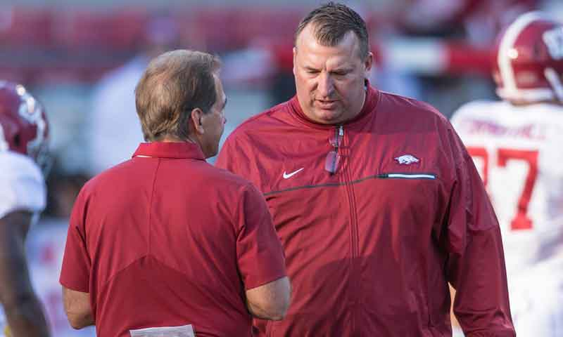 Hogs: QB Kelley, receivers improving