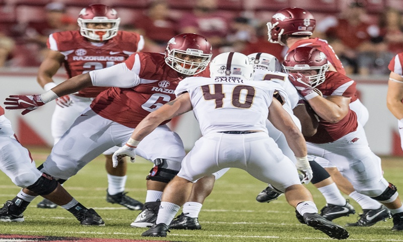 Hogs: O line better than 2nd half vs. A&M