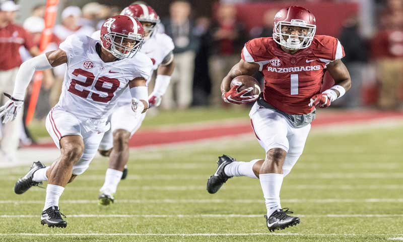 Hogs: run game aids receivers; salty Auburn D; notes