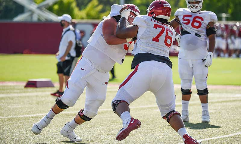 HOGS: O responds to poor scrimmage; notes