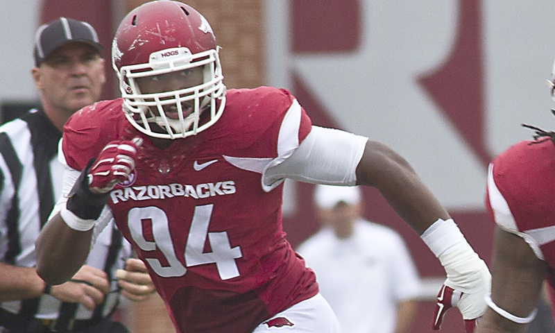 Hogs: Johnson returns to noseguard, while Ledbetter explodes at tackle; more notes