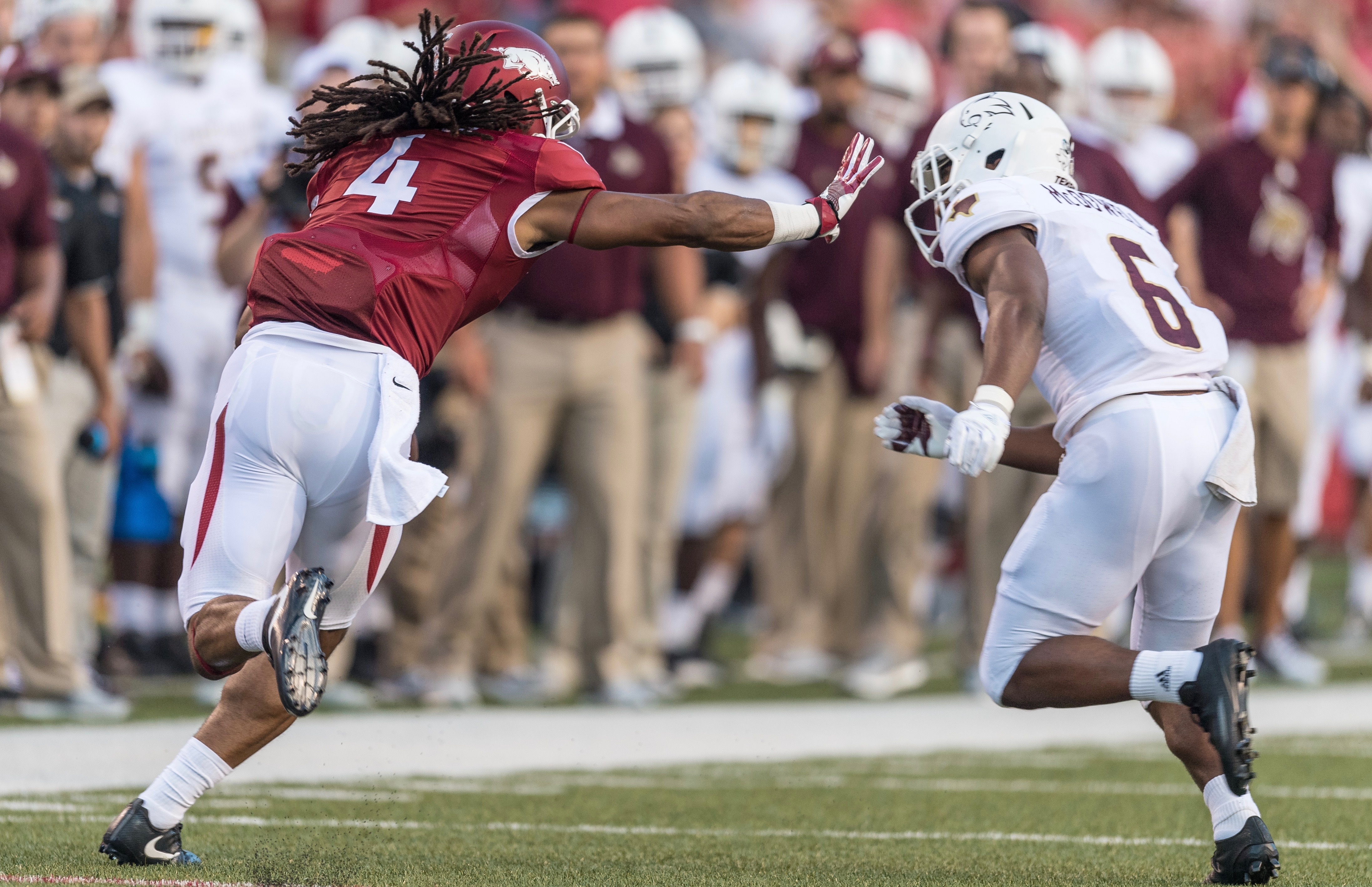 No. 24 Hogs torch Texas State 42-3