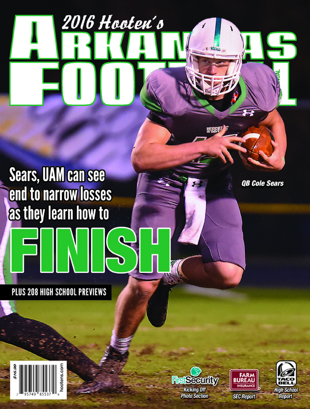 2016 Hooten's Arkansas Football (UAM cover)