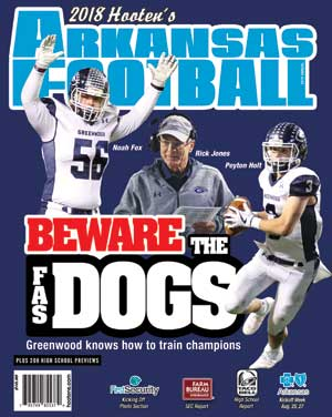 2018 Hooten's Arkansas Football (Greenwood cover)