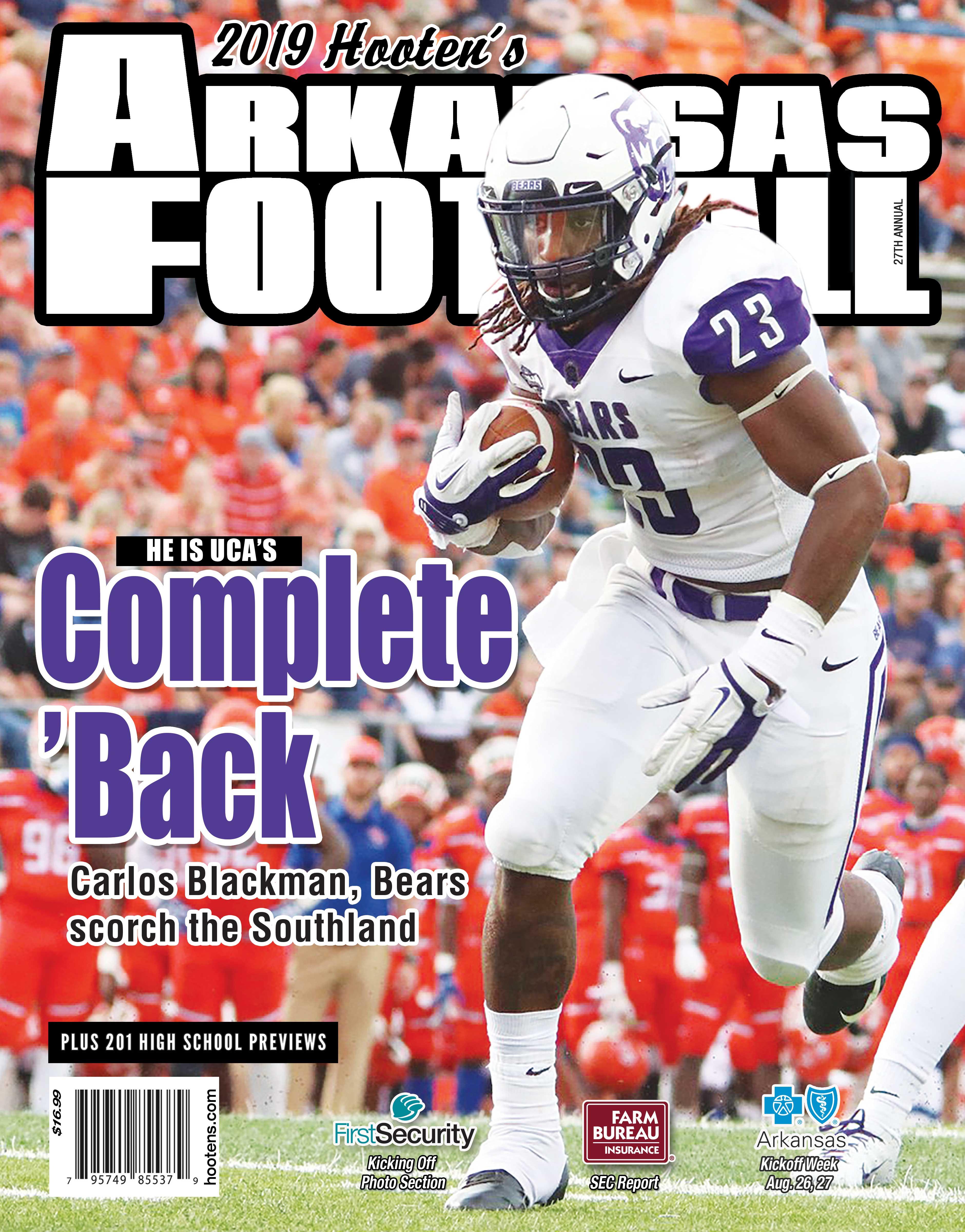 cheap for discount 26ffa 36df0 2019 Hooten's Arkansas Football (Central Arkansas cover ...