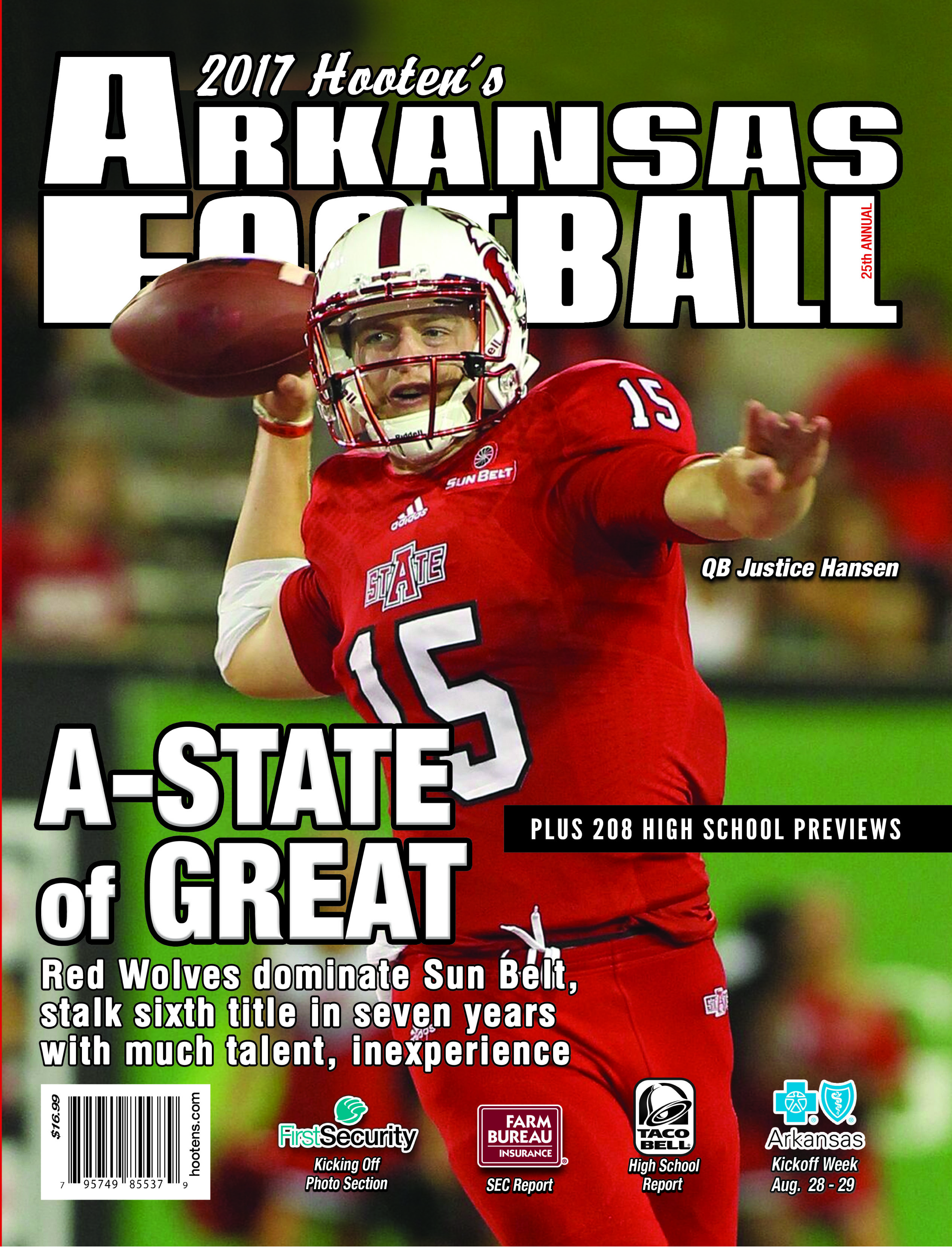 2017 Hooten's Arkansas Football (A-State cover)