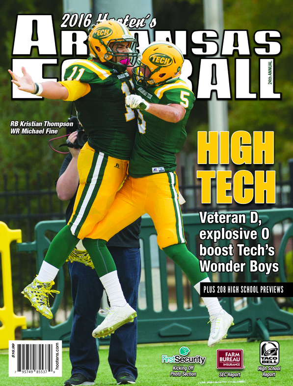 2016 Hooten's Arkansas Football (ATU cover)